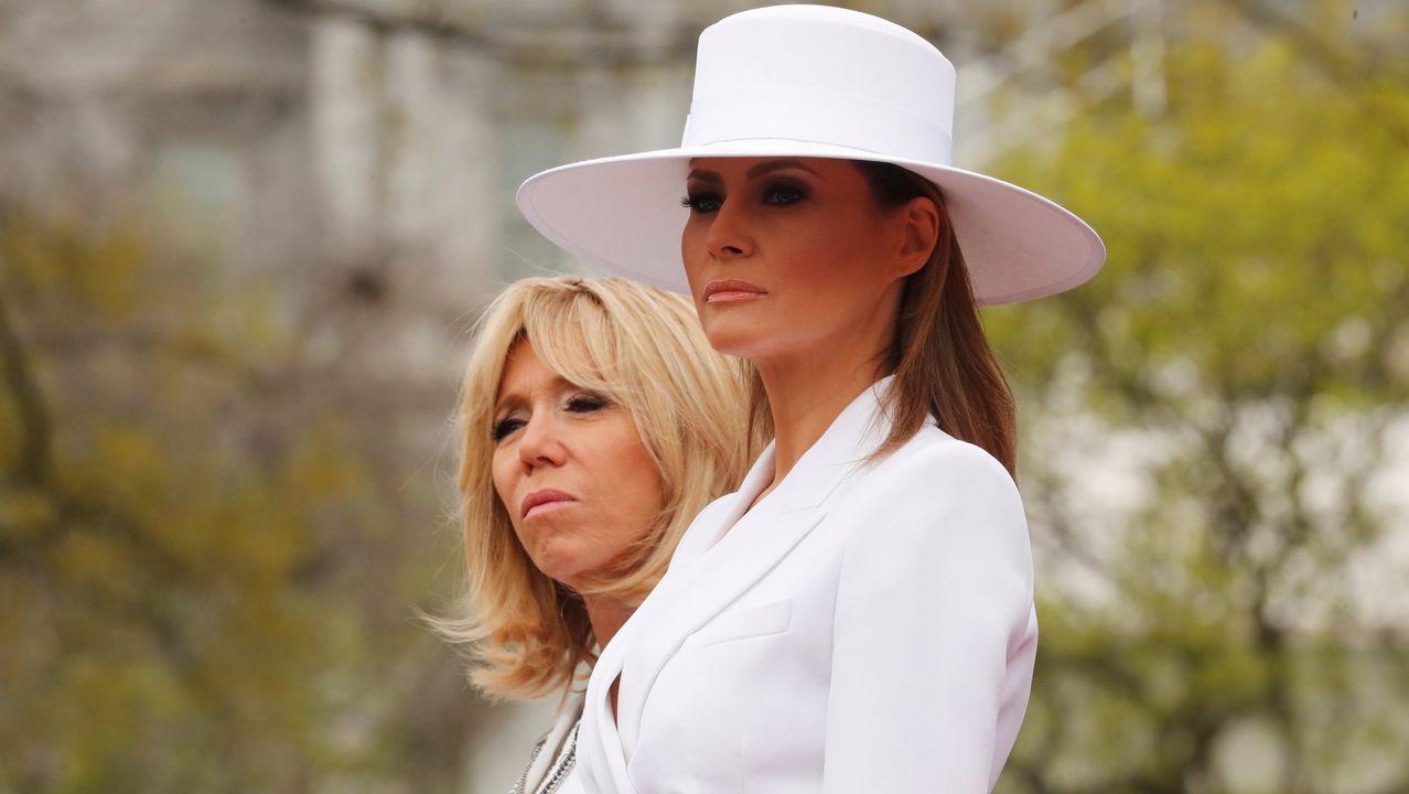 Duelo de estilo entre Melania Trump y Brigitte Macron