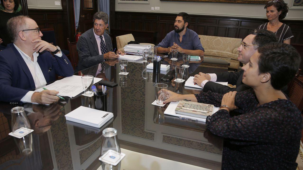 .Imagen de la reunión de la Comisión de Urbanismo