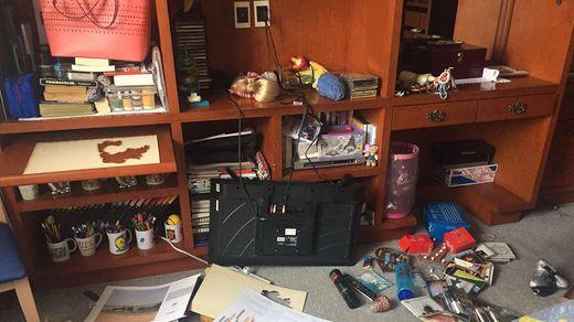 La casa de Marcelino Torres tras el terremoto