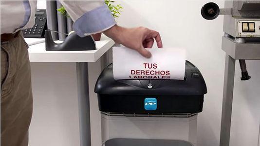 El PSOE muestra «la trituradora del PP»