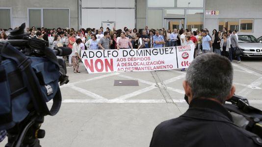 Protesta de los trabajadores de Adolfo Domínguez