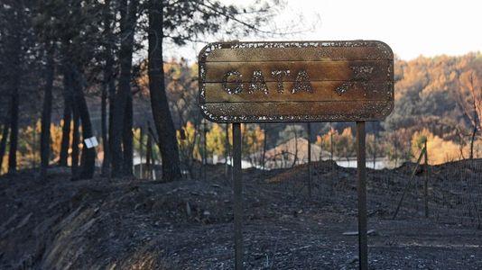 Espectaculares imágenes del incendio de Cáceres