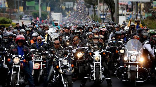Peregrinación en moto para adorar al Cristo Negro