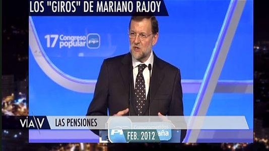 Los giros de Mariano Rajoy