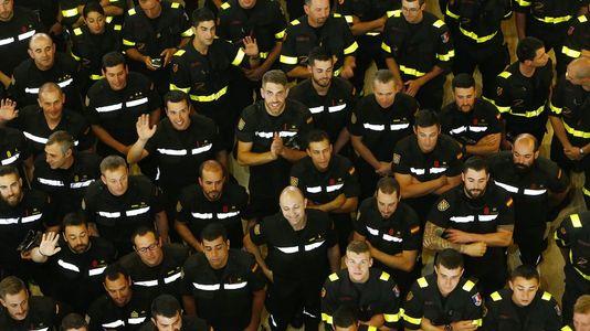 Calurosa despedida al equipo de la UME que ha trabajado en los incendios de Chile