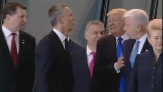 Trump empuja al primer ministro de Montenegro