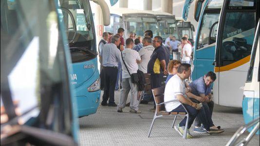 Seguimiento masivo de la huelga de transporte de viajeros en Ferrol