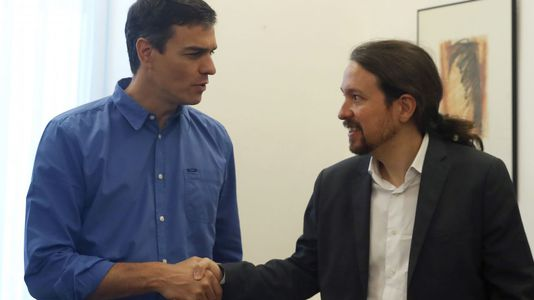 Así fue el encuentro entre Pedro Sánchez y Pablo Iglesias