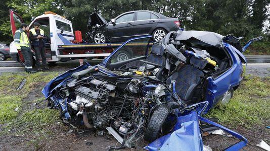 Un fallecido y dos heridos en un accidente de tráfico en la N-640