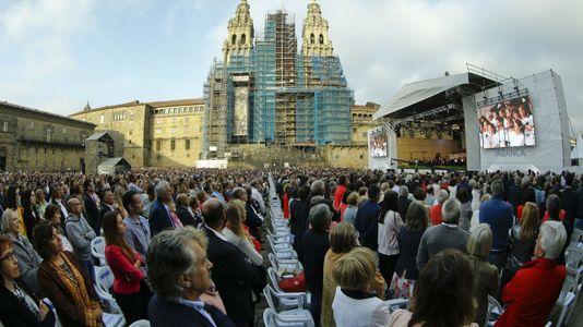 Así fue el concierto de Gustavo Dudamel en el Obradoiro