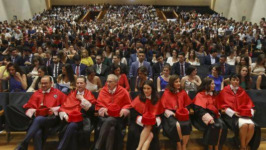 Graduación de los alumnos de Derecho