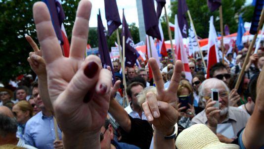 Protestas en Polonia contra las reformas judiciales del Gobierno