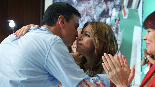 Susana Díaz pide a Pedro Sánchez que no le haga elegir entre el PSOE y Andalucía