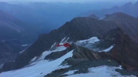 Sobrecogedor accidente de helicóptero en el pico más alto de Austria