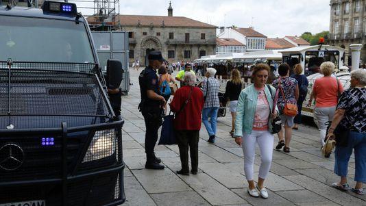 Concentraciones en Santiago y comarca contra los atentados de Cataluña
