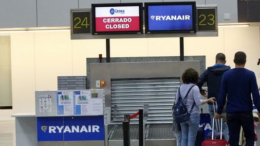 La odisea de un pasajero afectado por las cancelaciones de Ryanair