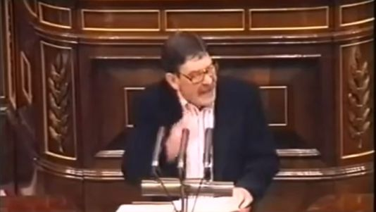 «¡Saquen sus sucias manos!»: Rufián hoy, Idígoras en 1995