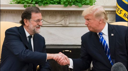 En streaming, rueda de prensa conjunta de Rajoy y Trump