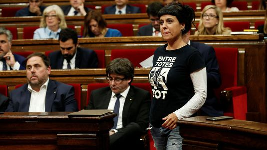 La CUP no aplaude a Puigdemont