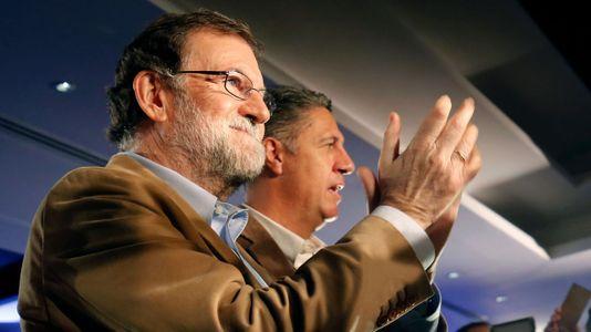 Rajoy: «El PP es el partido de la Cataluña valiente»
