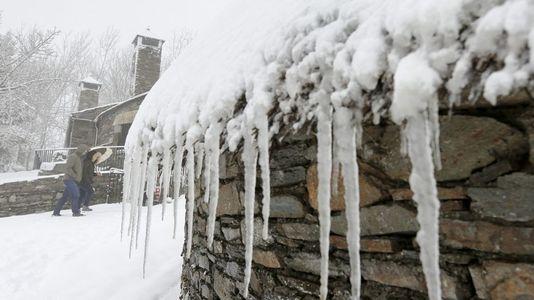 De A Fonsagrada hasta Os Ancares: Ana trae la nieve a Lugo