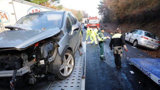 Accidente de tráfico en la N-VI