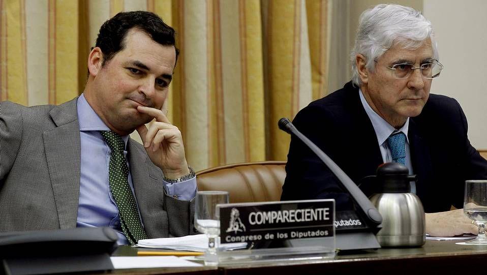 El presidente de RTVE, Leopoldo González-Echenique, en su comparecencia en el Congreso.