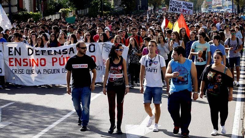 Huelga de estudiantes en Vigo