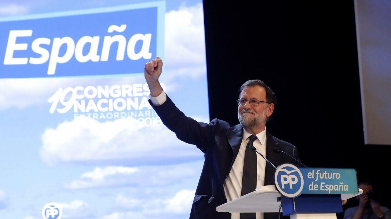 Casado promete una integración plena de Sáenz de Santamaría y su equipo.La secretaria general del Partido Popular, María Dolores de Cospedal, durante su intervención