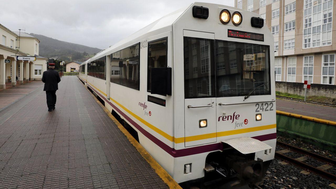 Pleamar en el Mandeo.Tramo construido y tramo pendiente de construcción del túnel del Metrotrén hasta Cabueñes
