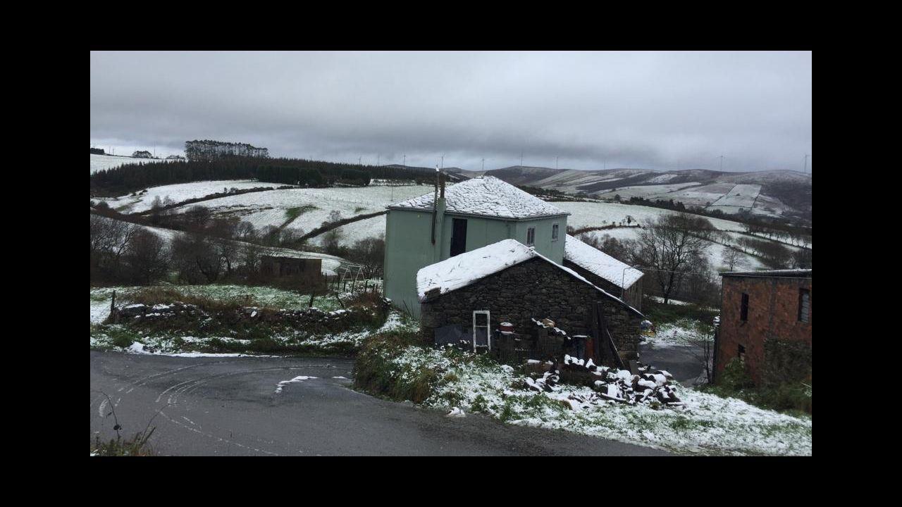 Granizo y nieve en A Mariña.Granizo y nieve en A Mariña