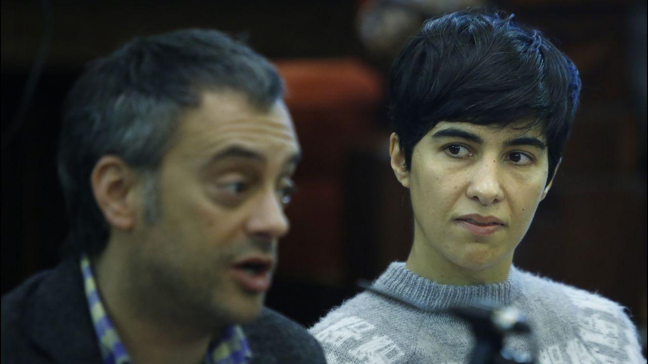 Pilar de Lara durante una charla sobre nuevos delitos