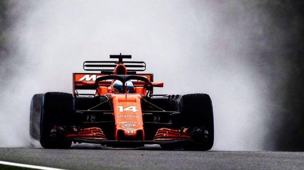 Alonso probó el nuevo sistema de protección de los coches en Malasia.