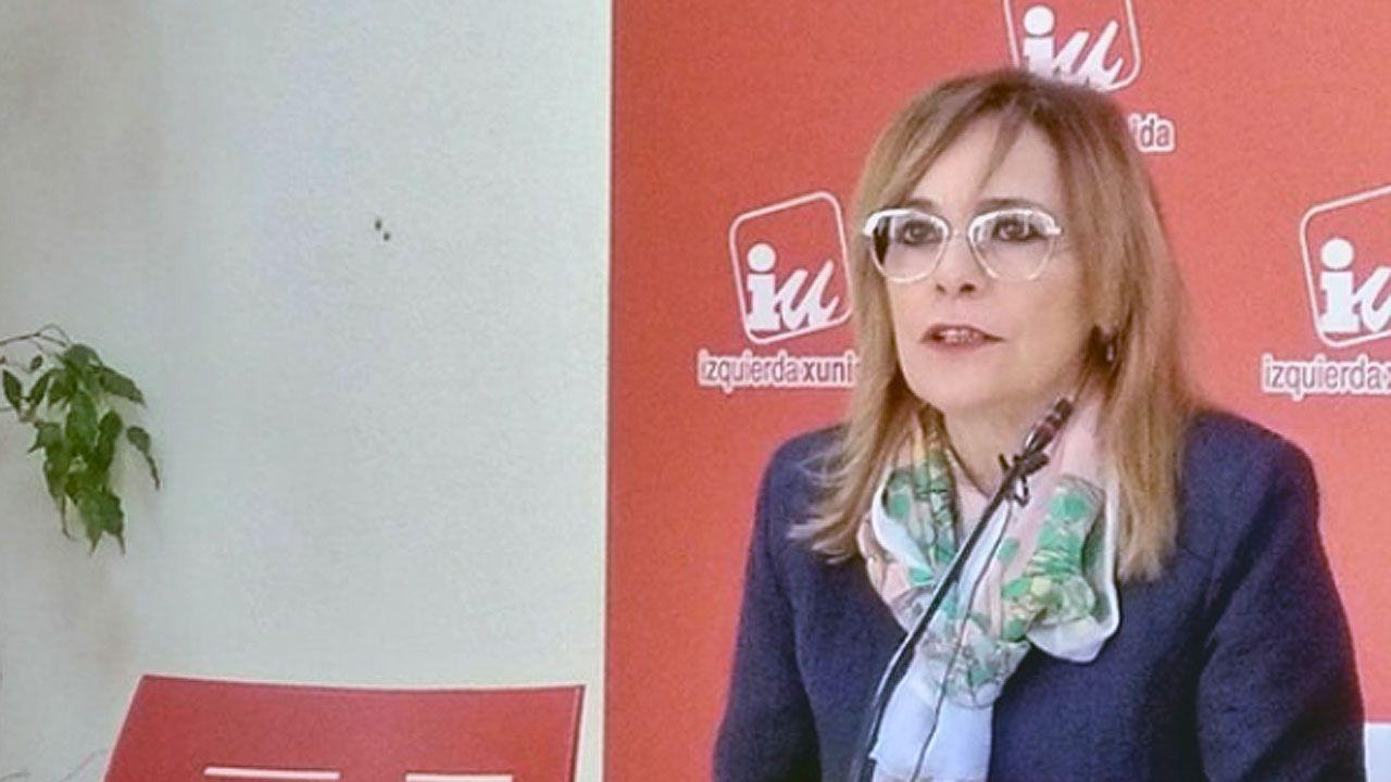 La manifestación por la oficilidad en imágenes.Ángela Vallina