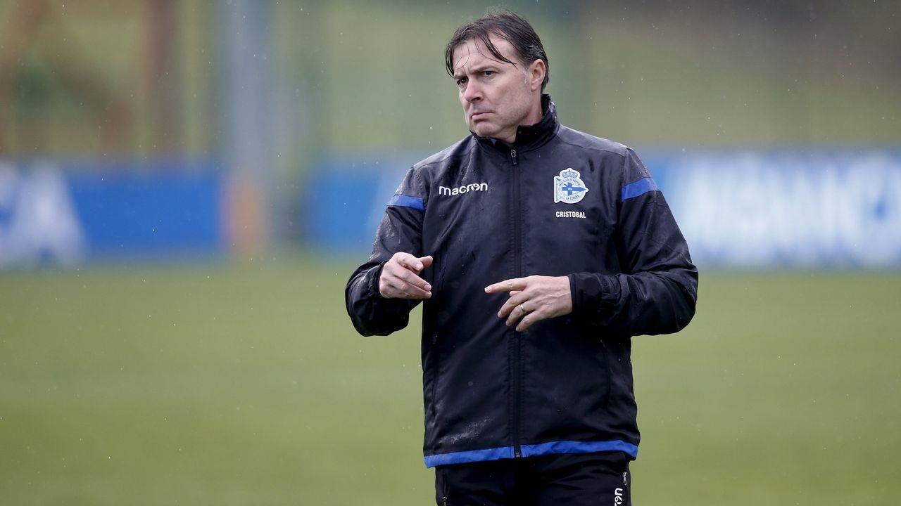 Cristóbal, durante su etapa como entrenador del Deportivo la pasada temporada