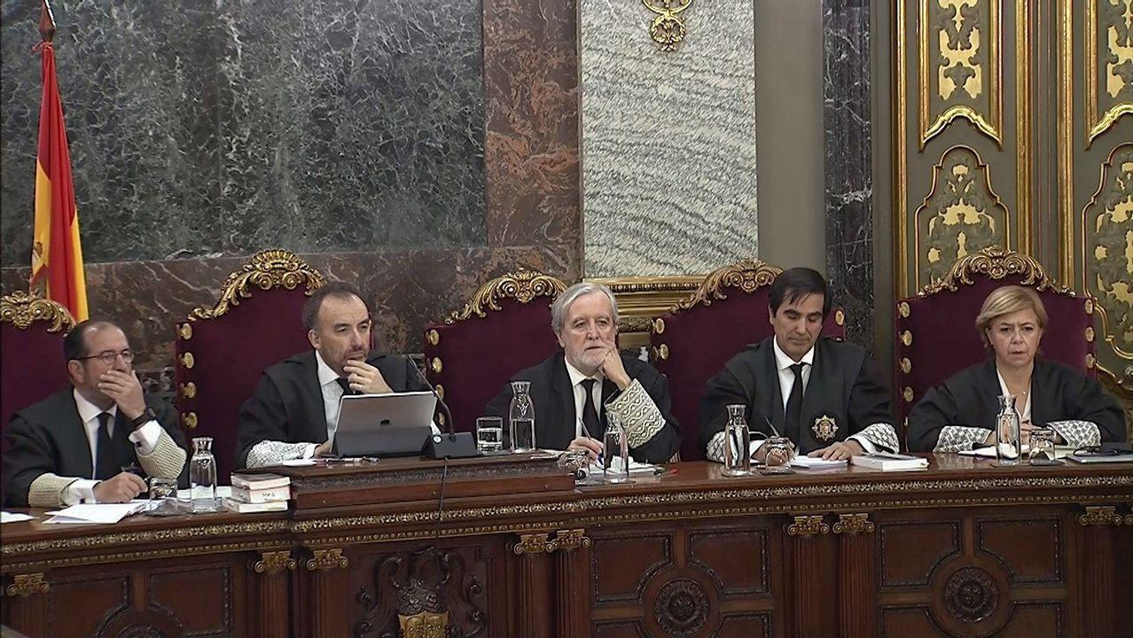 En directo y en streaming, el juicio del procés.Otegi, ayer, durante un acto político de Bildu antes de la emisión de la entrevista en TV3