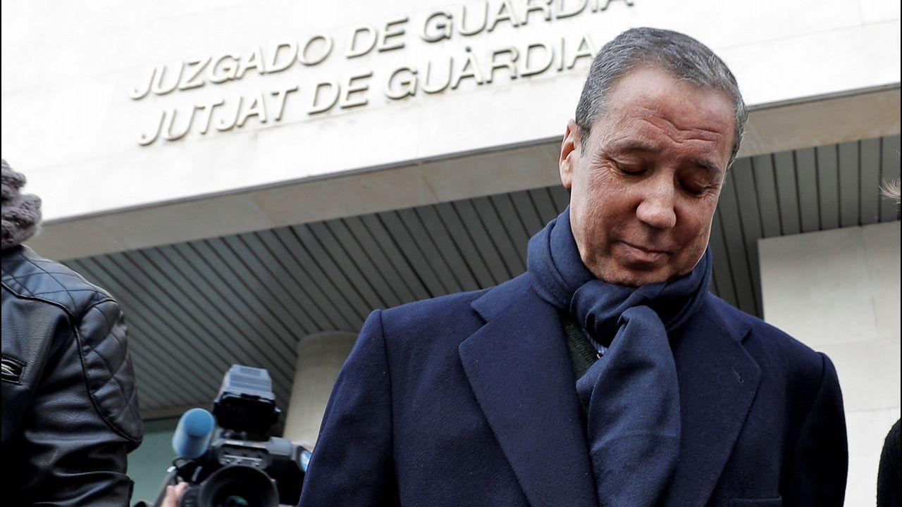 Zaplana: «Jamás participé en una adjudicación ilegal».Zapalana, en el momento de su detención por el caso de las ITV