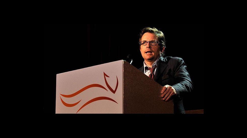 .El actor Michael J. Fox, dedicado a la causa de las enfermedades.