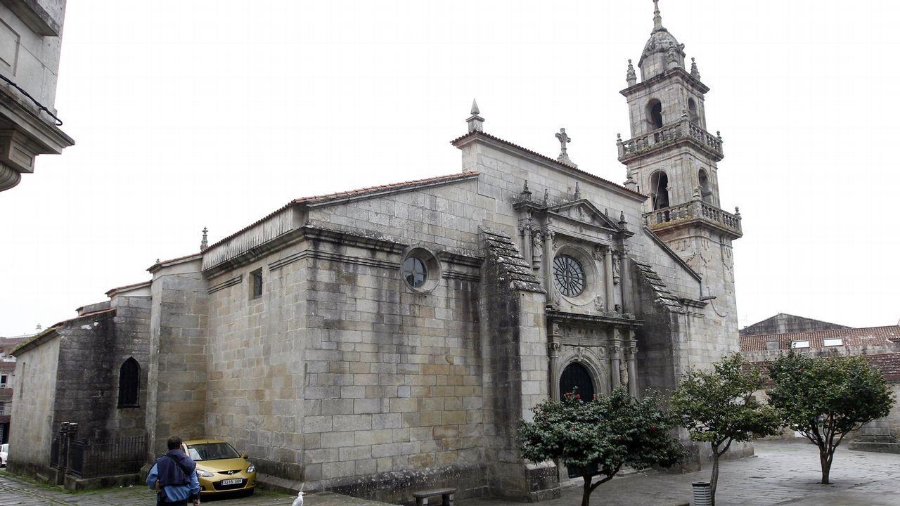 El arzobispo de Oviedo, Jesús Sanz, en Covadonga.El arzobispo de Oviedo, Jesús Sanz, en Covadonga