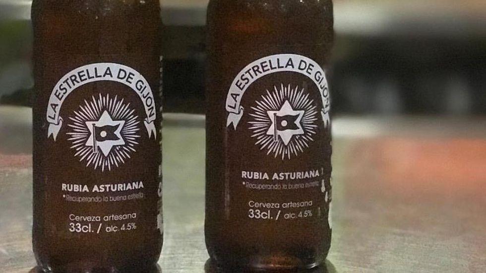 Cerveza asturiana Estrella de Gijón