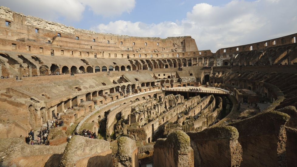 Interior actual del monumento romano