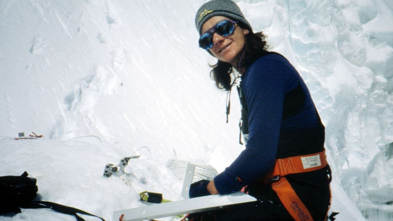 Chus Lago en el Everest