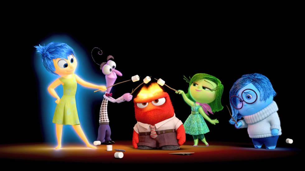 Inside Out.Personajes de la película «Inside Out» que representan las emociones