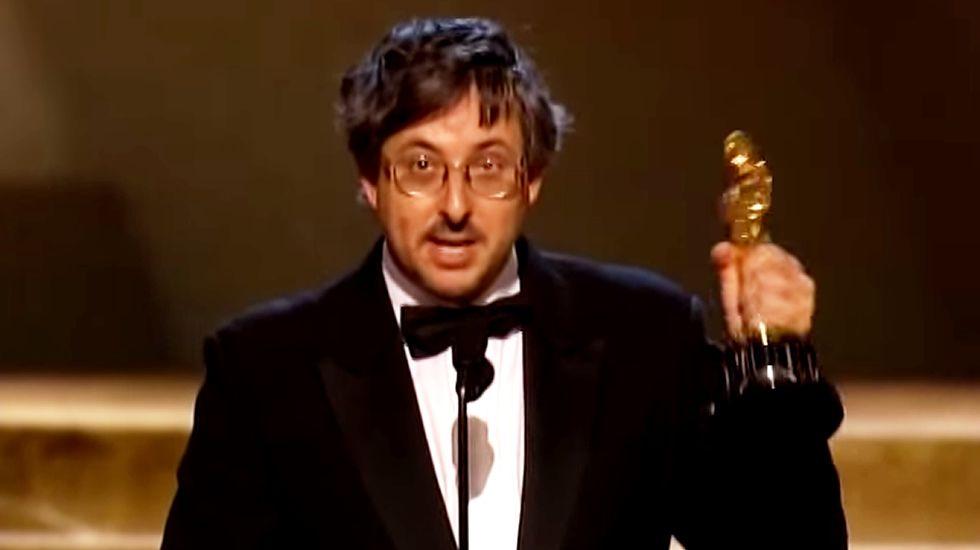 Andrew Lesnie, ganador de un Oscar.Foto de familia tras el acto institucionañ