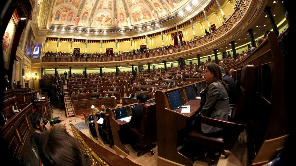 El inglés «top» de Caballero: «Very welcome everybody here».Congreso de los Diputados