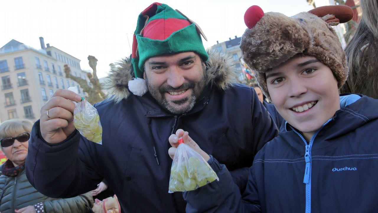 Fiesta de fin de año en Vilagarcía