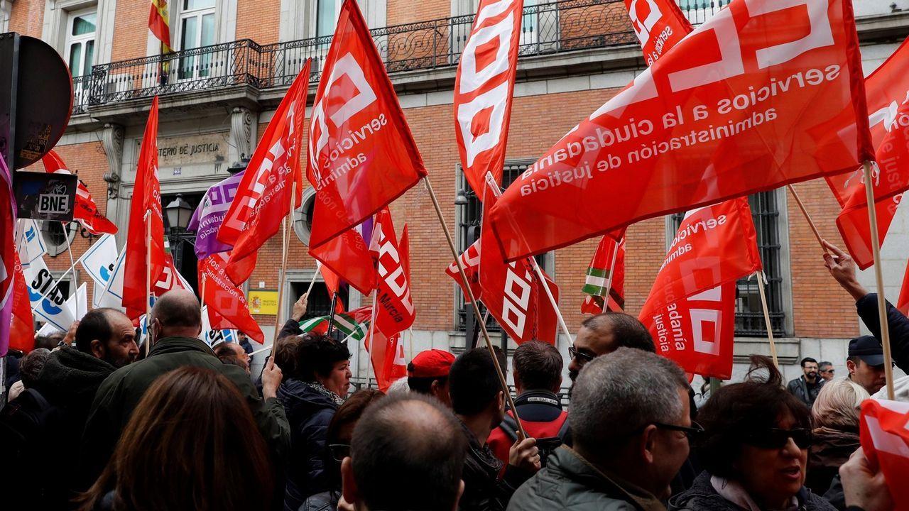 Así se vivieron las manifestaciones del 1 de mayo en Santiago.Luisa Díaz, ganadera de O Páramo