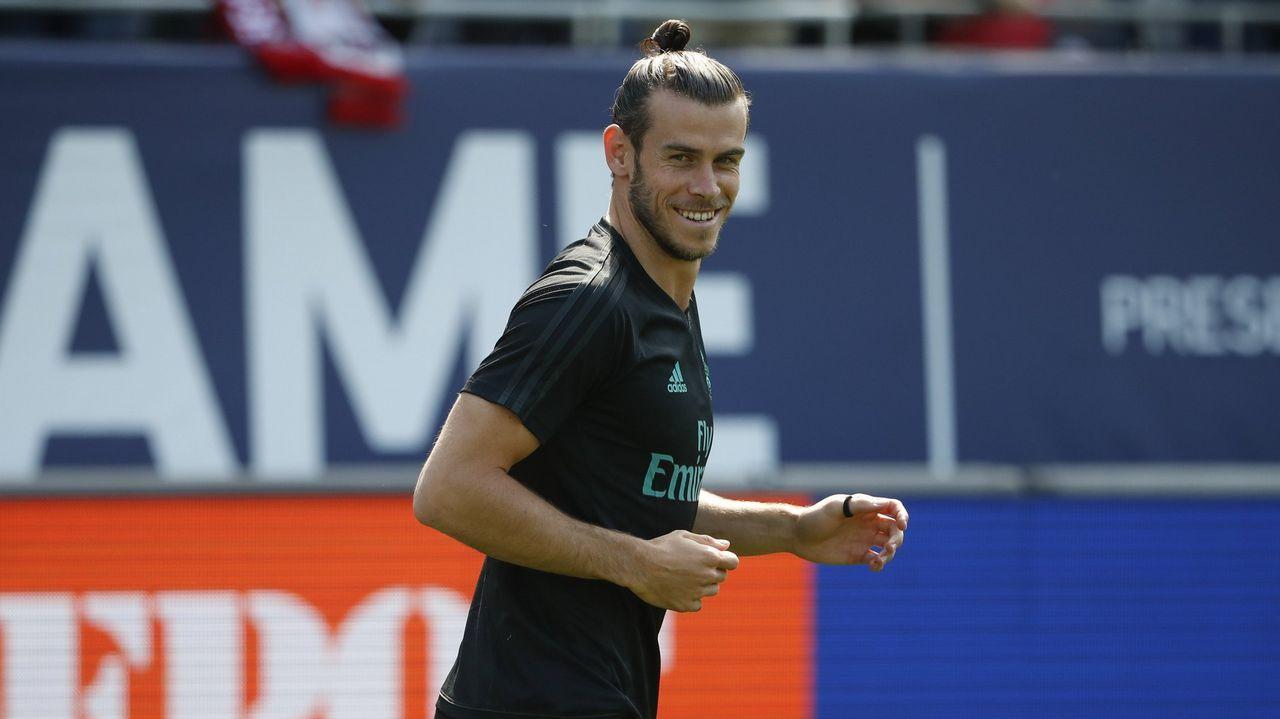 Último entrenamiento del Madrid antes de viajar a Skopje