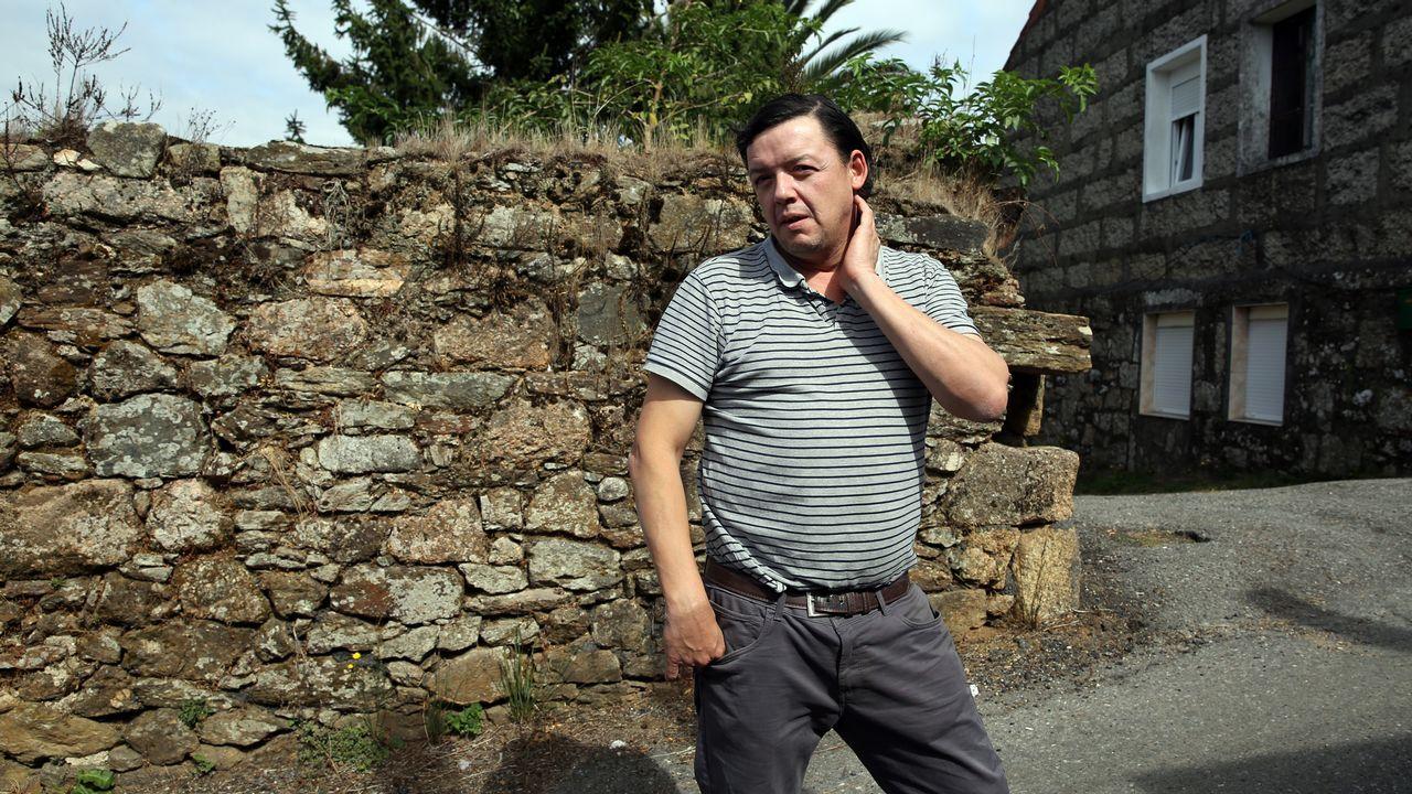 Tomé Alves un vecino de Vilagarcía que fue atracado a punta de pistola en Moraña.