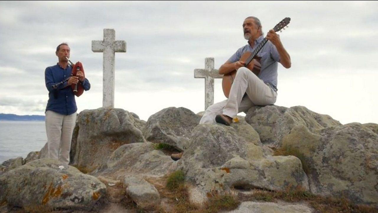 Uno de los momentos del videoclip «Gallego»